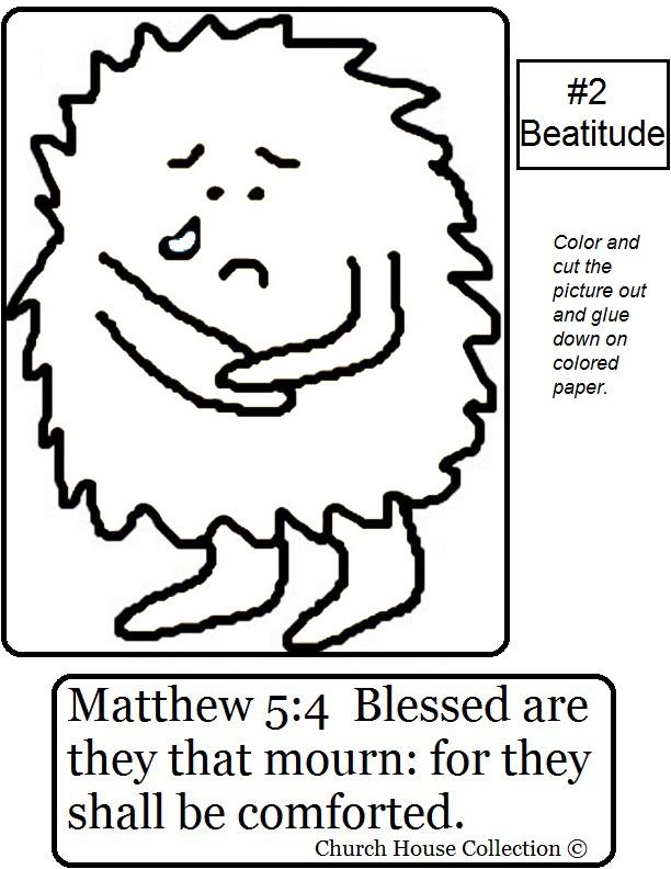 beatitude craft sheet printable version