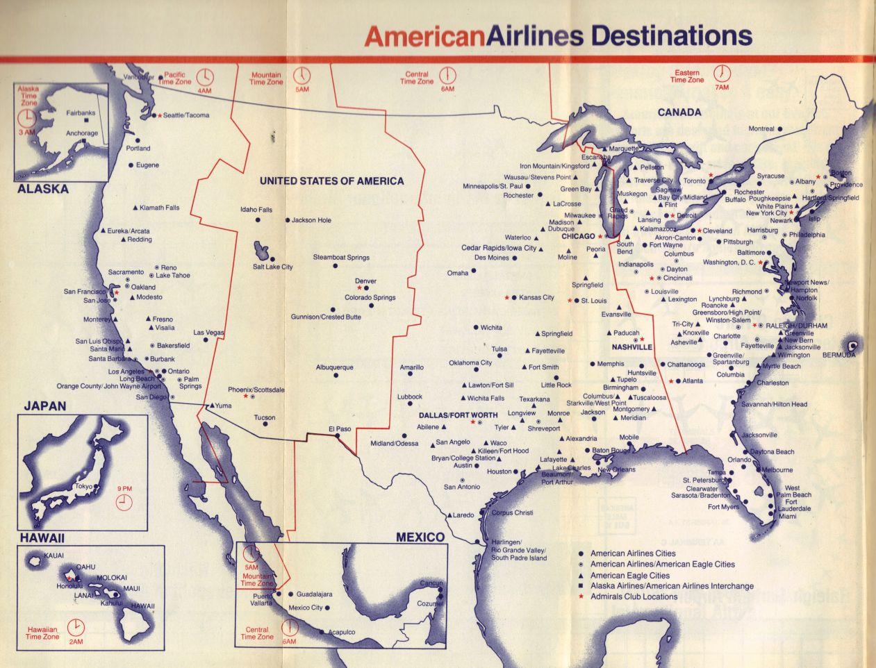 Airline Memorabilia American Airlines 1988