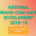 NMMS (National Means-Cum-Merit Scholarship) 2018-19, Download admit card, Important instructions for Exam. West Bengal.