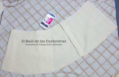 Confección chaqueta kaftán Aris Agoriuq de El Tiempo entre Costuras armado del faldón