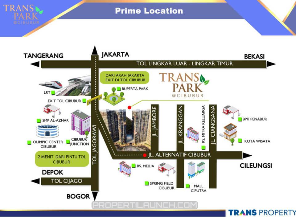 Trans Park Cibubur Location