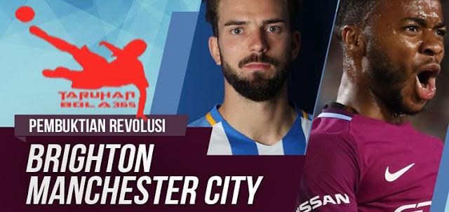 Prediksi Taruhan Bola 365 - Brighton & Hove Albion vs Manchester City 12 Agustus 2017