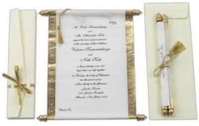 Undangan Pernikahan Model Gulung