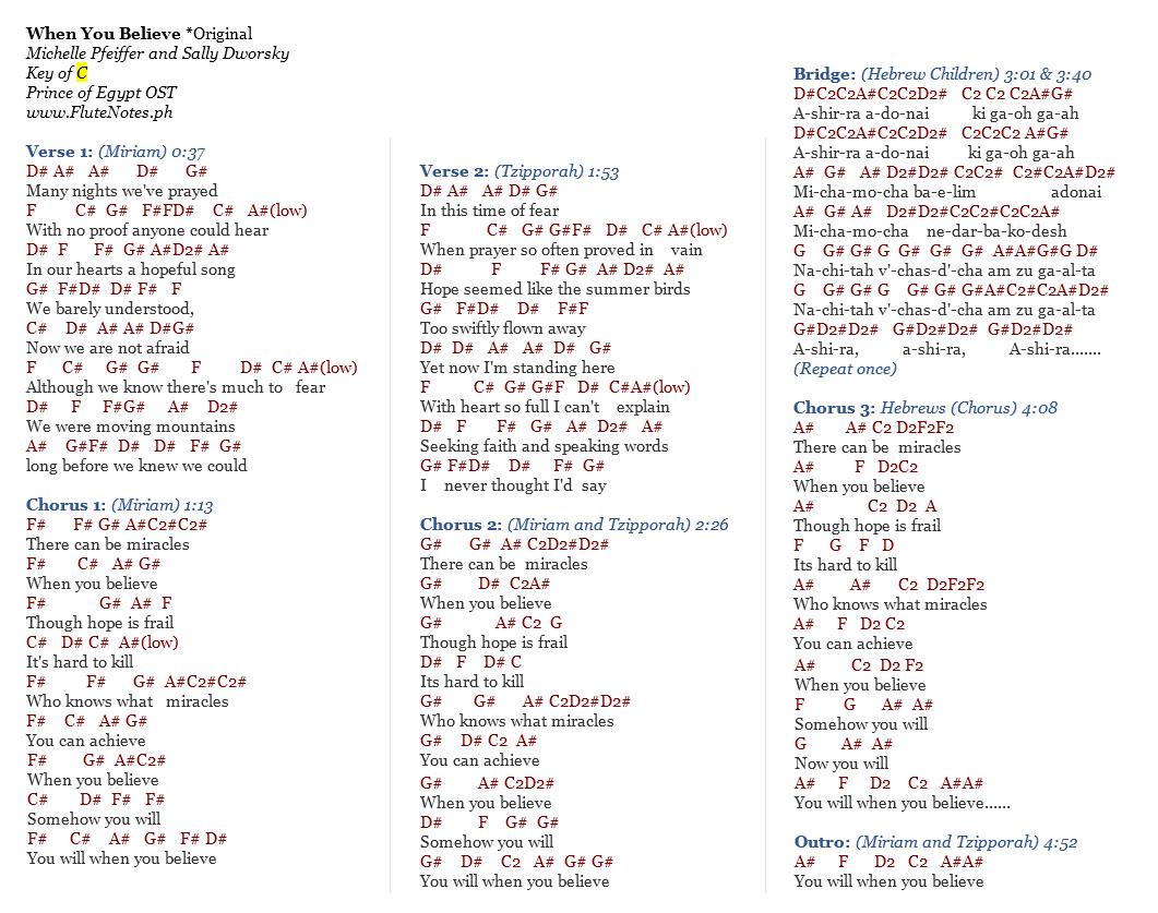 The prince of egypt song lyrics