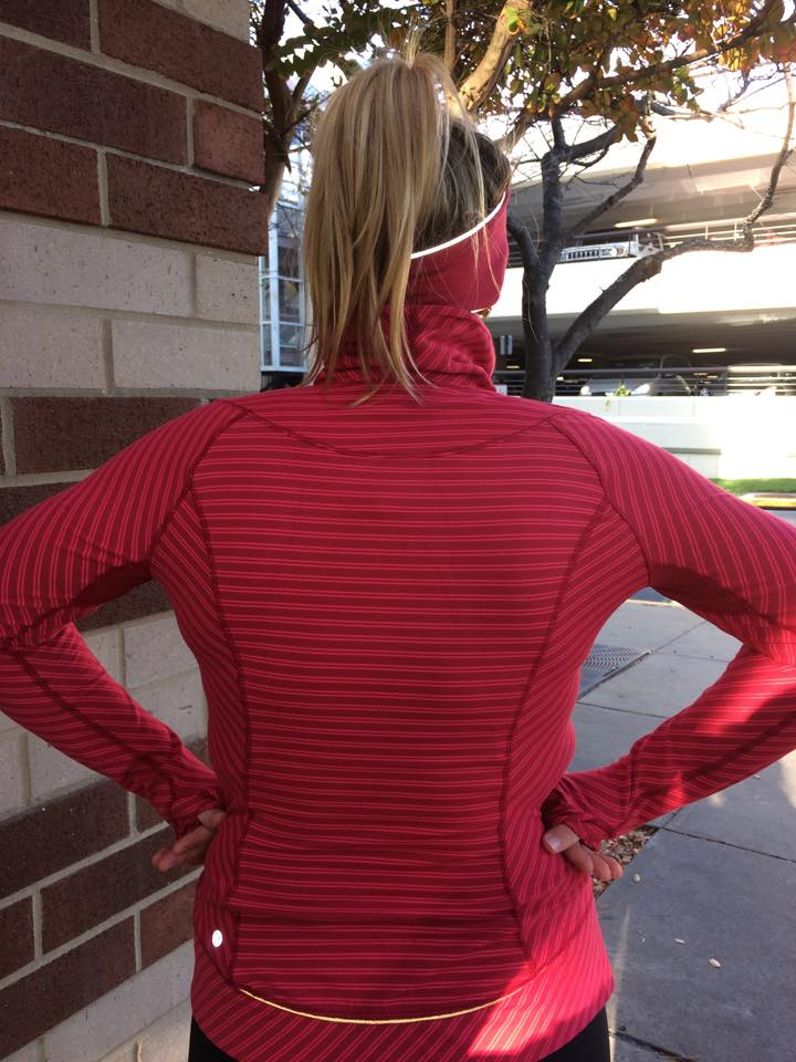 lululemon think fast pullover back view