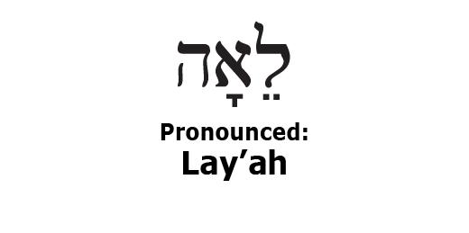 Twebrew School: The Hebrew Name Leah
