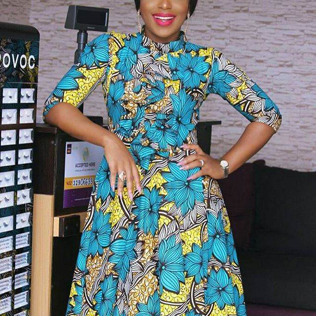 Super Gorgeous Turtle Neck Ankara Styles; Latest Gowns You Need ...
