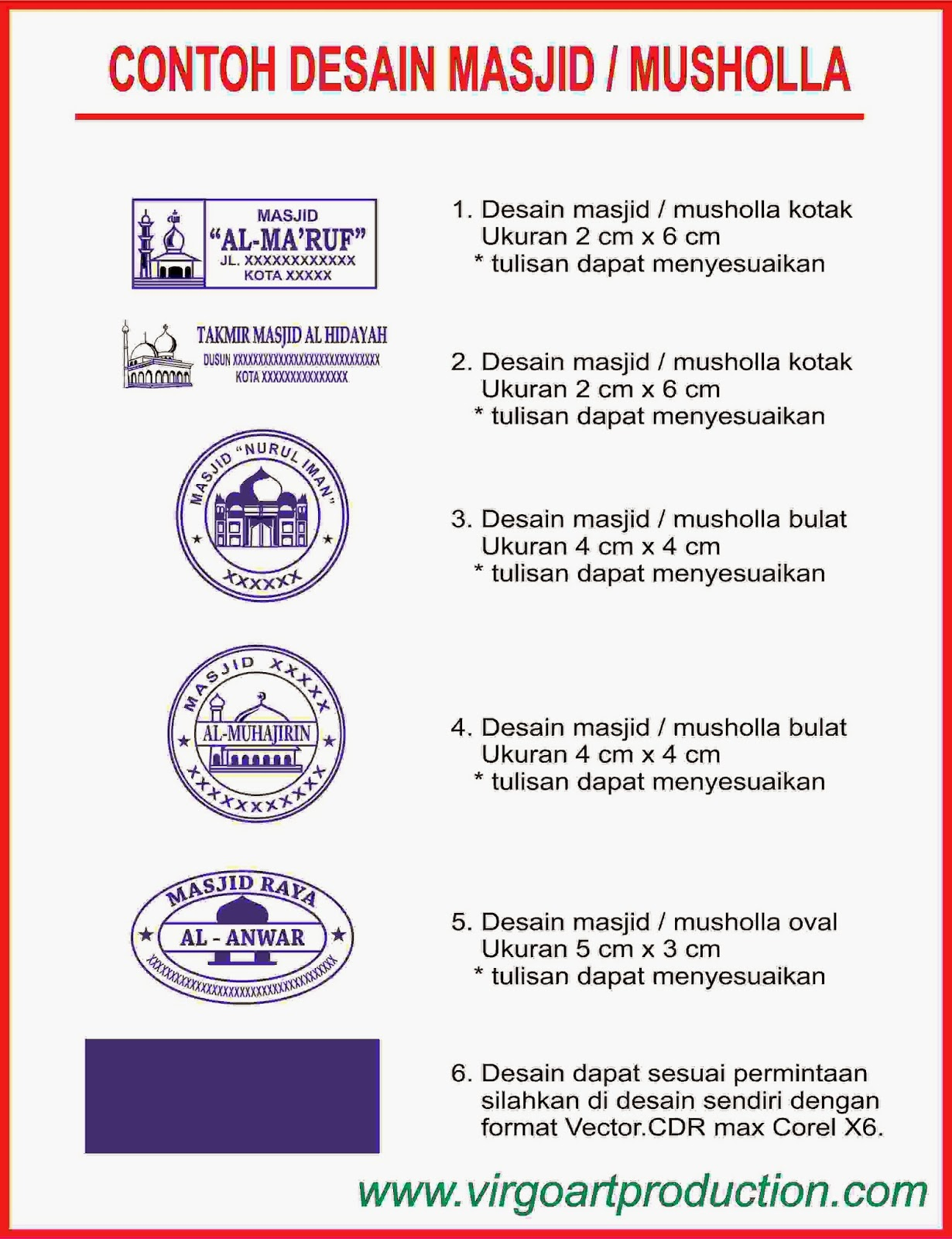 Virgo Art Production Stempel Semarang 100 Stempel Flash
