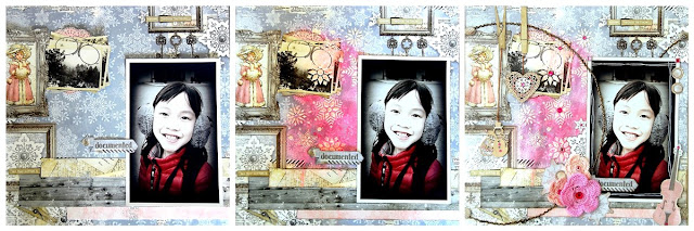 Documented Layout by Irene Tan using BoBunny Winter Wishes collection