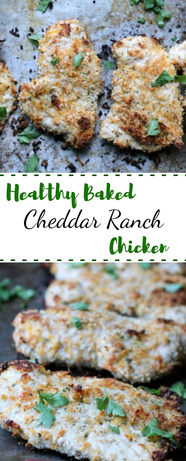 Healthy Baked Cheddar Ranch Chicken #healthy #lowcarb