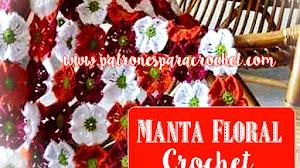 Manta Jardín de Flores / Paso a paso Crochet