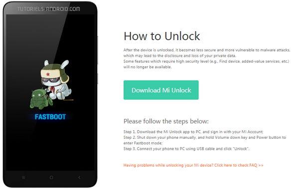 Download official Mi Unlock