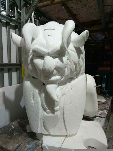 "Cara pembuatan patung (4D) replika tokoh kartun tv animasi film ""beauty and the beast"" dari styrofoam"