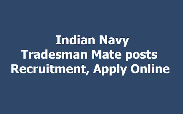 Indian Navy Tradesman Mate posts