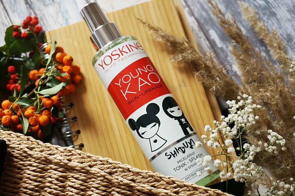 Yoskine Young Kao tonik micelarny w sprayu cera z niedoskonałościami