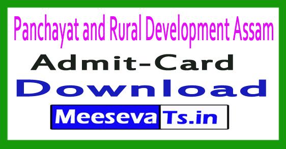 Panchayat and Rural Development PNRD Assam Rozgar Sahayak Admit Card Hall Ticket Download 2017