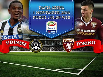 Agen Resmi SBOBET Online Terbesar - Prediksi Bola Serie A Udinese vs Torino 1 November 2016