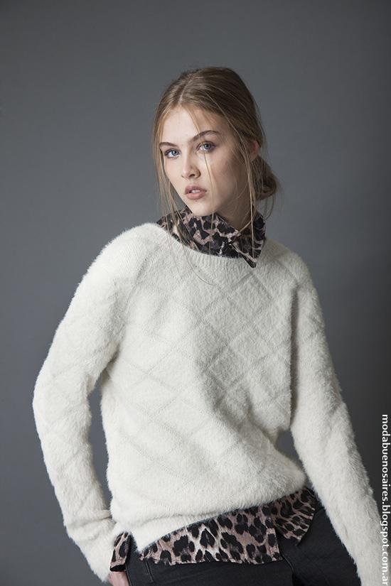 Moda invierno 2016 ropa de mujer sweaters tejidos. Bled moda invierno 2016.