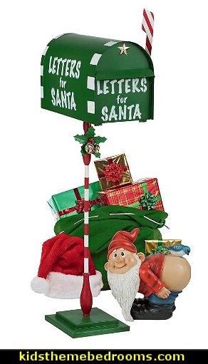 Letters for Santa Metal Holiday Mailbox   Santas shopping mall - Christmas gifts - Christmas shopping - Christmas decorations - Christmas decorating - gift ideas for mothers - gifts for men - gift ideas for women -  gift ideas for girls - gift ideas for boys -