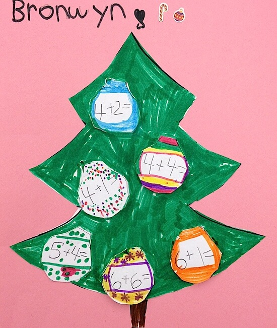 Christmas tree addition in Grade 1 FREEBIE