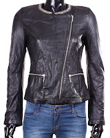 Geaca Zara Dama Cristinne Black Leather (Zara)