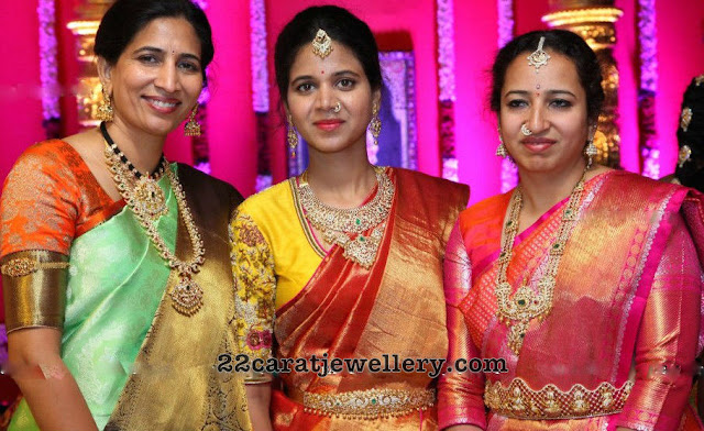 Pretty Ladies in Mango Mala and Patakam Haram