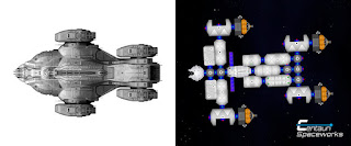 side by side comparison of the original Raza from the tv show and the Raza constructed in Space Agency