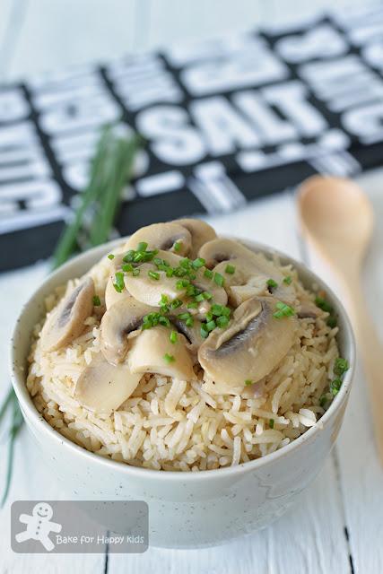 easy mushroom butter rice