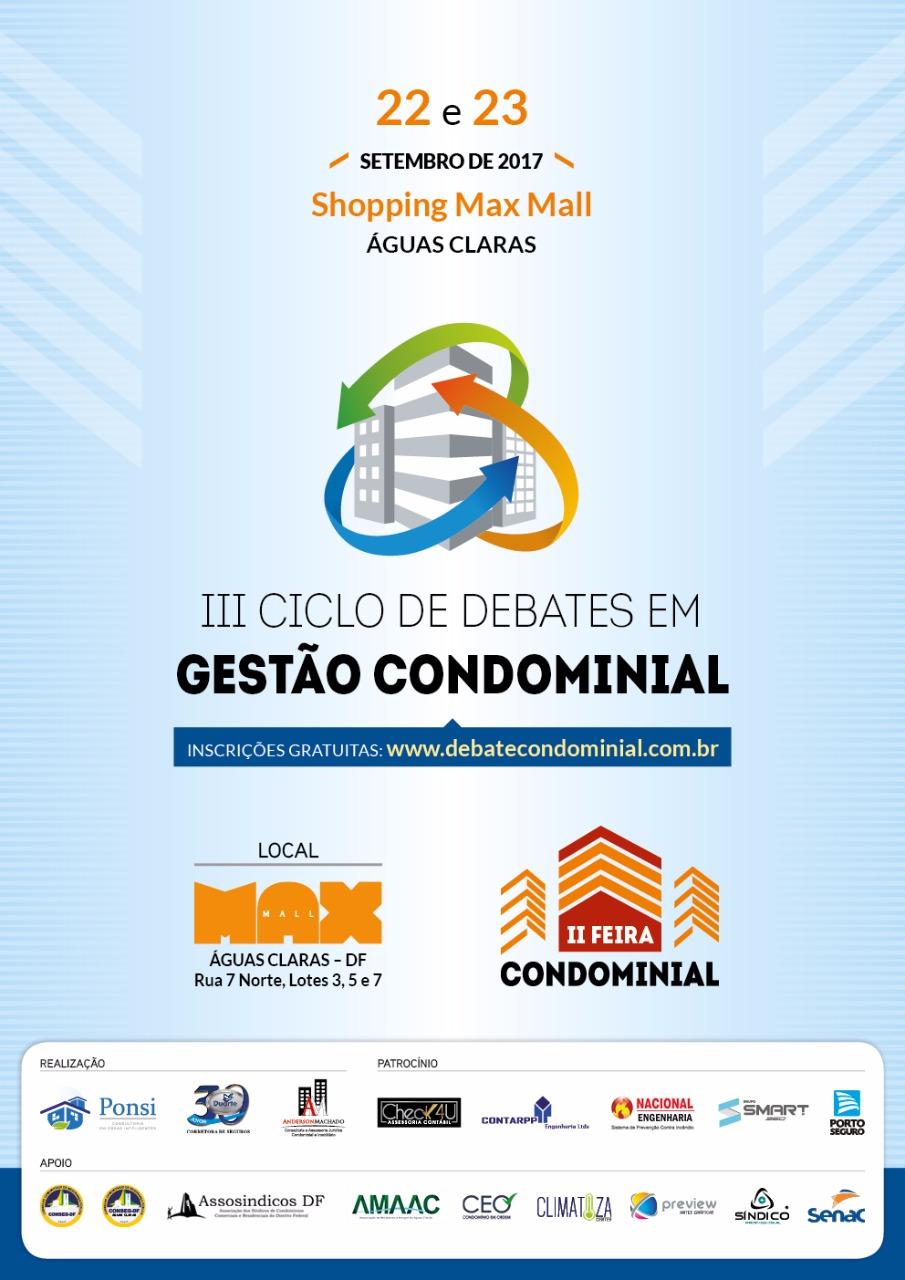 III Ciclo de Debates em Gestão Condominial - Apoio Assosindicos DF