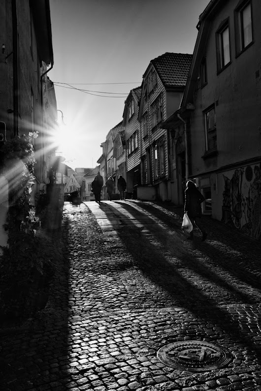 And when the sun hits Stavanger streets after days with rain and cold there are Long Shadows