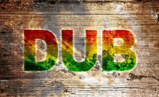 dub visual in red gold and green
