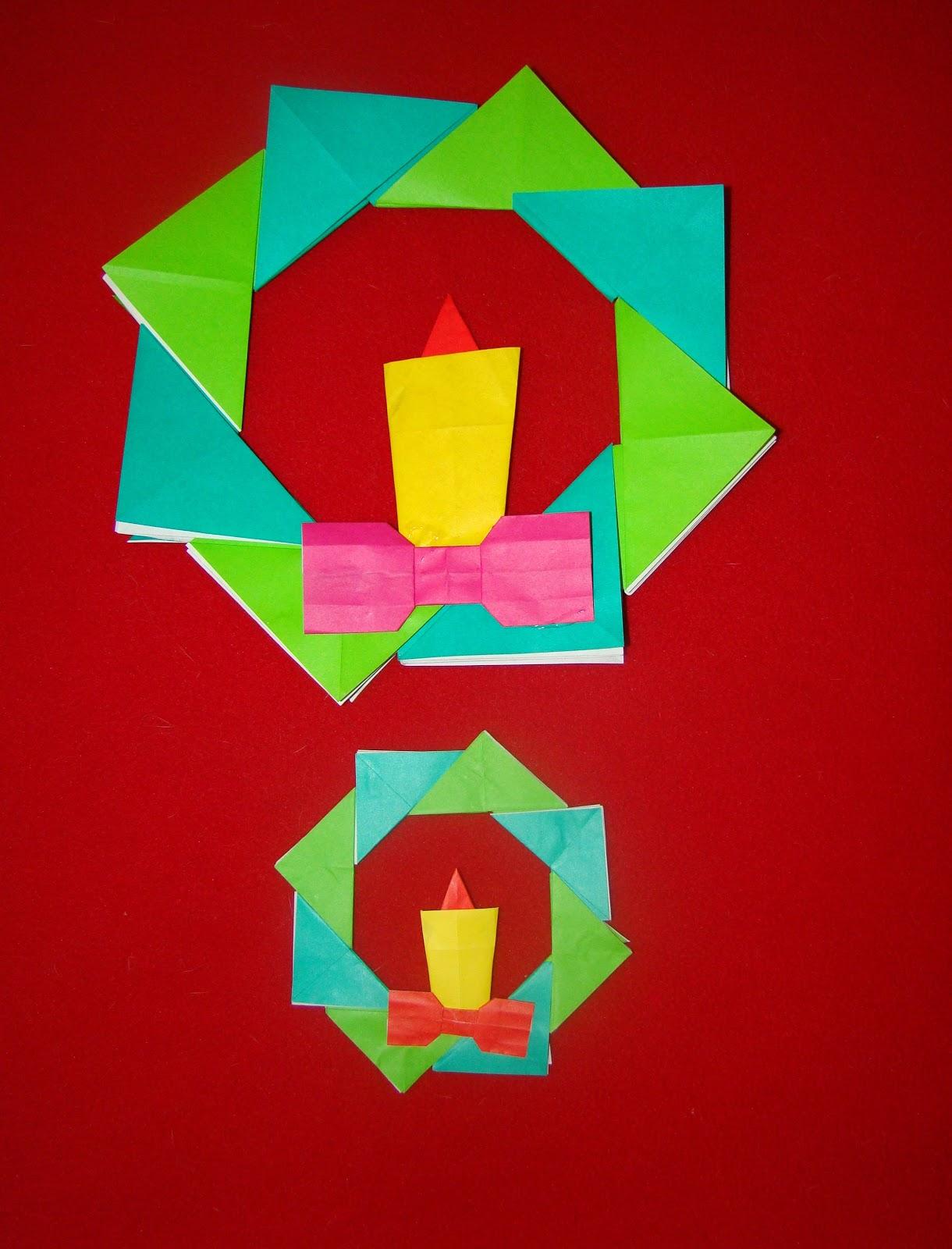 christmas origami diagram 4 prong generator plug wiring maniacs wreath