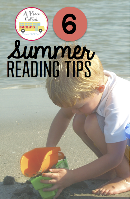 Six summer reading tips for Kindergarten graduates. Follow these six simple summer reading tips to inspire little readers to read during the summer months. By Jonelle Bell/A Place Called Kindergarten