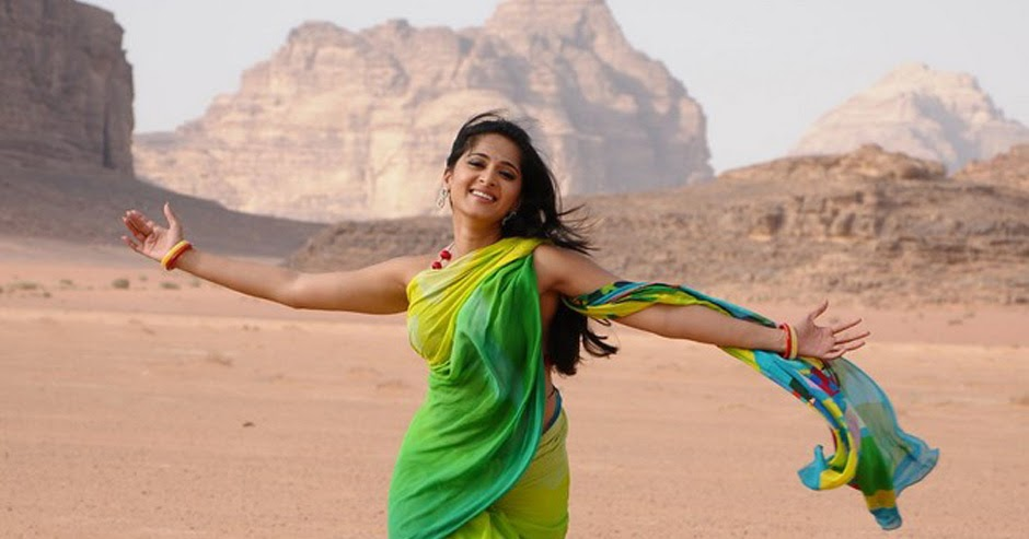 Prabhasmyhero Blog Prabhas Awesome Hd Stills Without: Anushka Shetty Photo Stills: Anushka In Green Saree