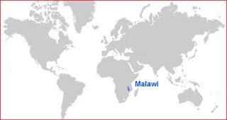 Gambar Peta letak Malawi