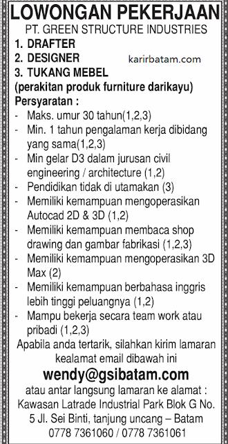 Lowongan Kerja PT. Green Structure Industries
