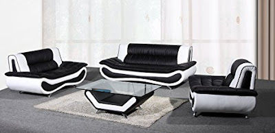 black and white sofa set designs for modern living room interiors (1)