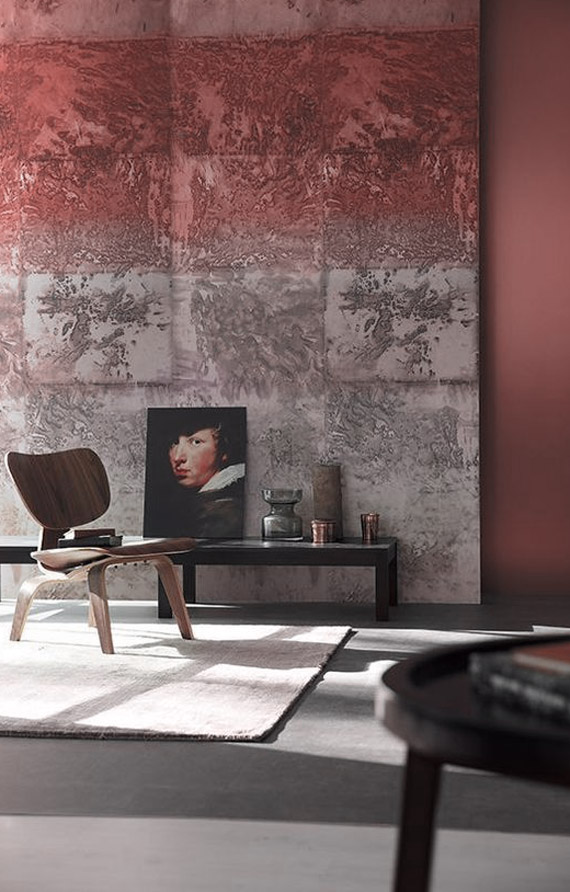 interiors in marsala pantone color