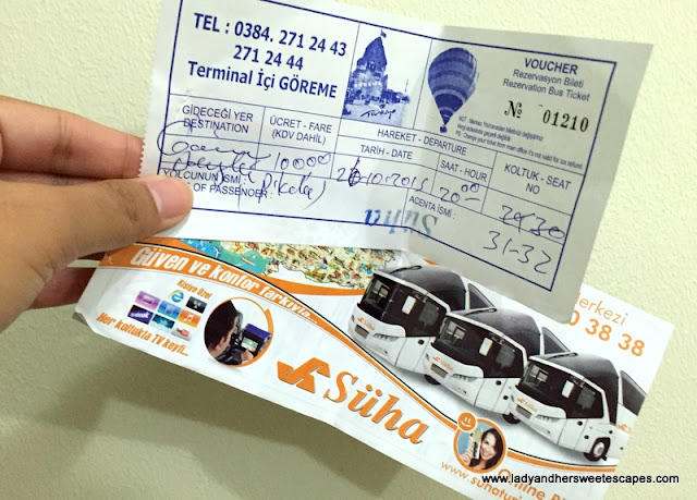bus ticket to Pamukkale