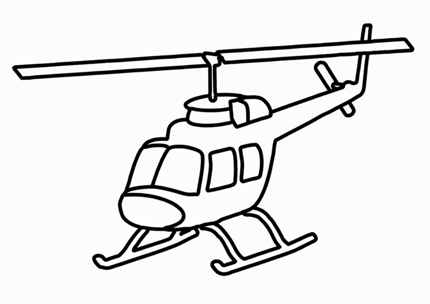 Helicopter Coloring Pages Khayatart