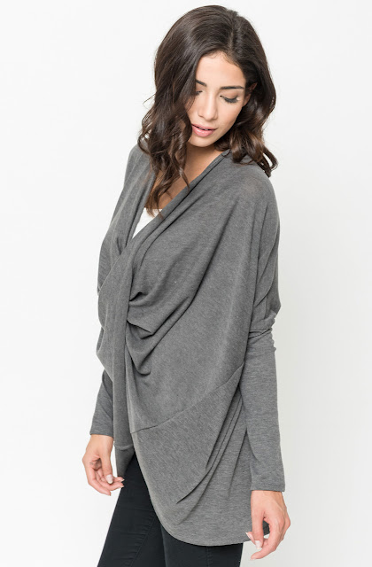 Buy Crossover Draped Cardigan Online @ caralase.com