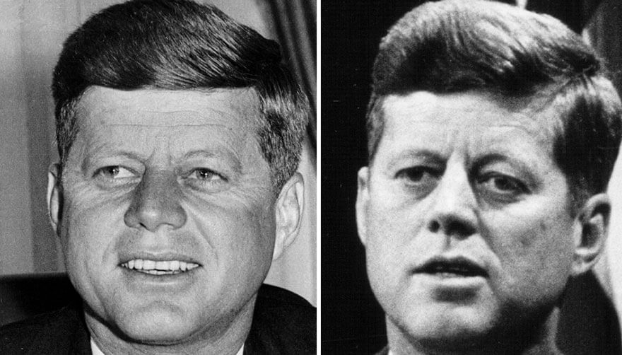 15 Before And After Photos Of US Presidents Depict How Their Job Transformed Them - John F. Kennedy (1961-1963)