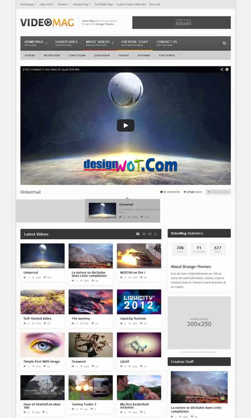 VideoMAG Movie WordPress Theme