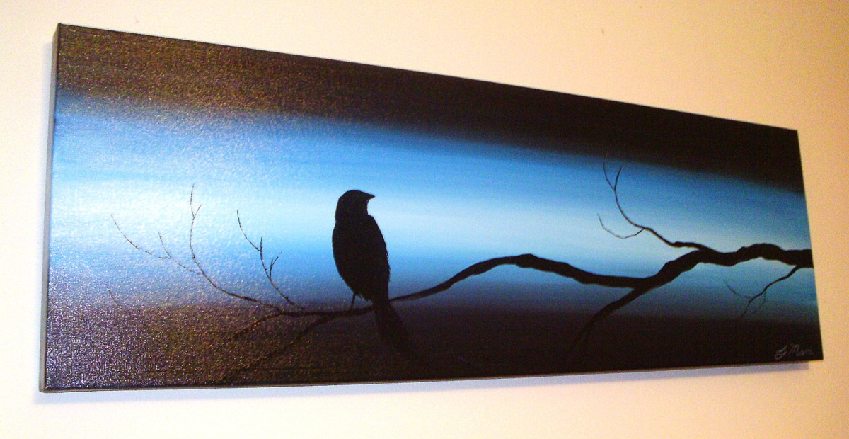 06-The-Perched-Crow-II-Blue-Paintings-by-Justin-Mane-www-designstack-co