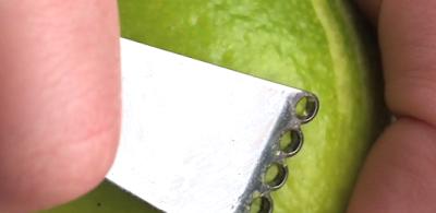 Como tirar pele fina limão