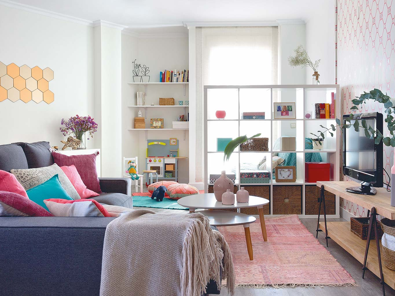 Tonuri vesele de culoare într-un apartament din Madrid