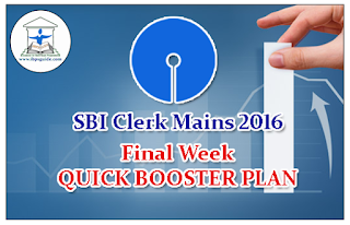 FINAL WEEK QUICK BOOSTER PLAN AND TIPS FOR