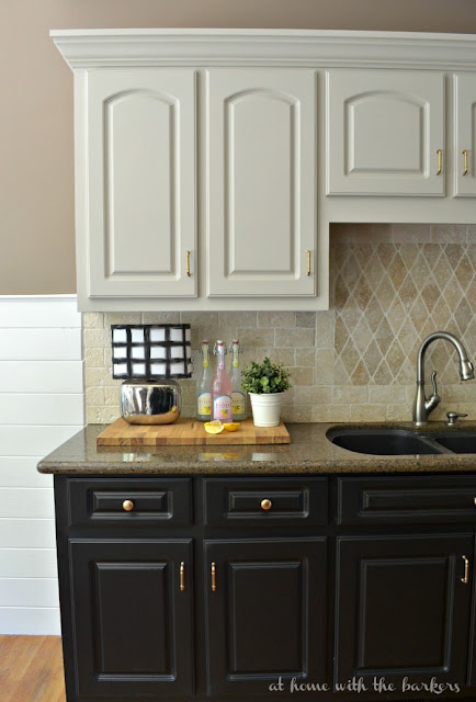 Painted kitchen cabinets, builder grade updates