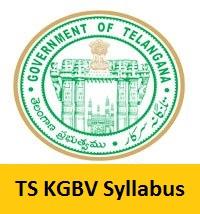 TS KGBV Syllabus 2017