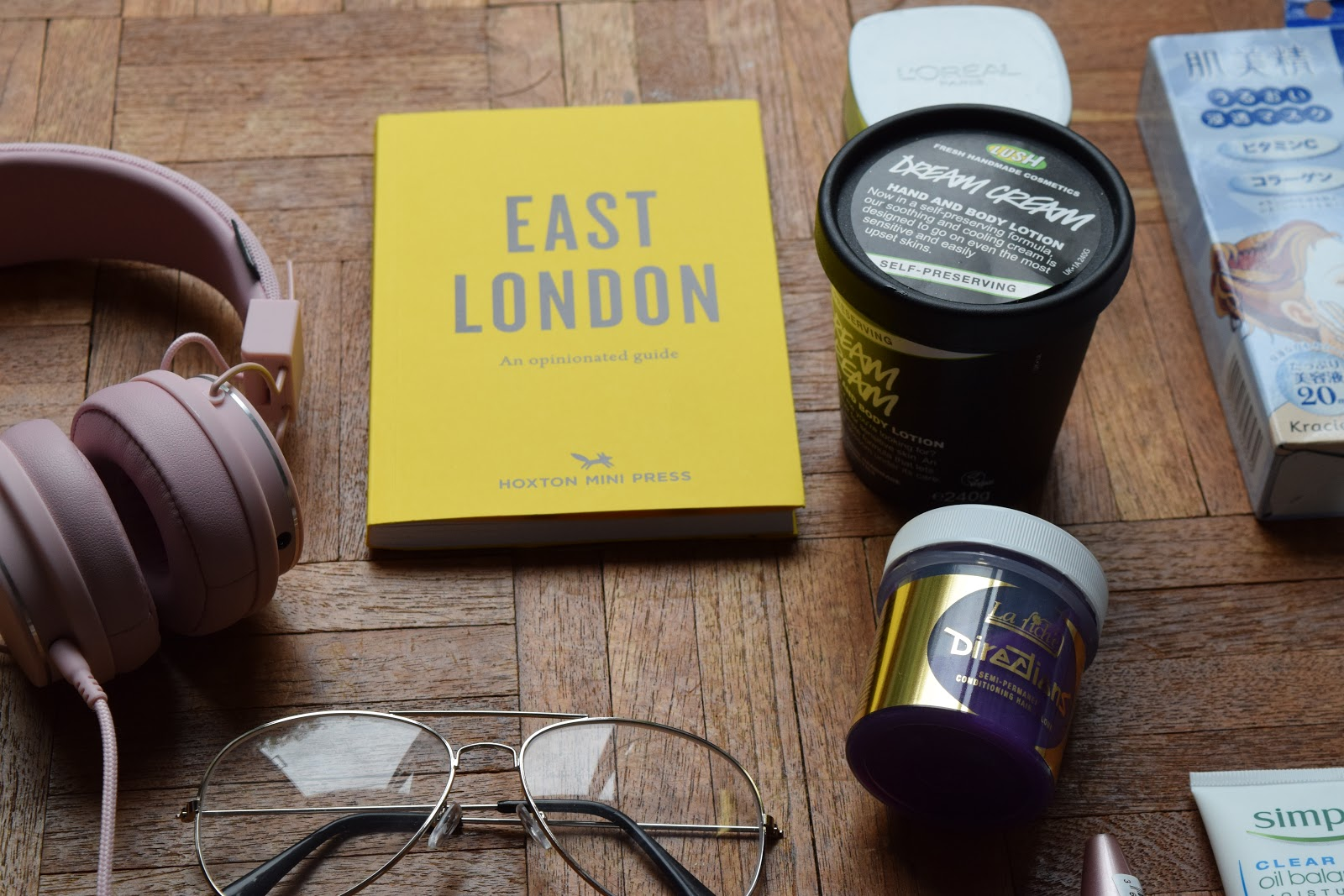 collective haul new in lush urbanears bluebird tea co hoxton mini press